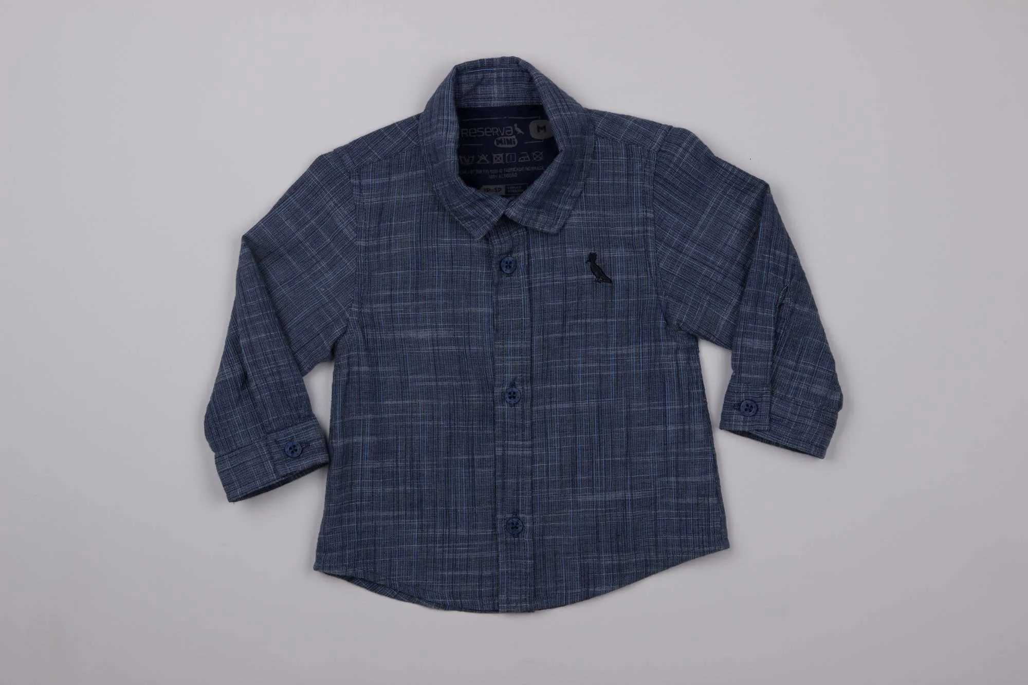 Camisa BB Textura Flame Reserva Mini
