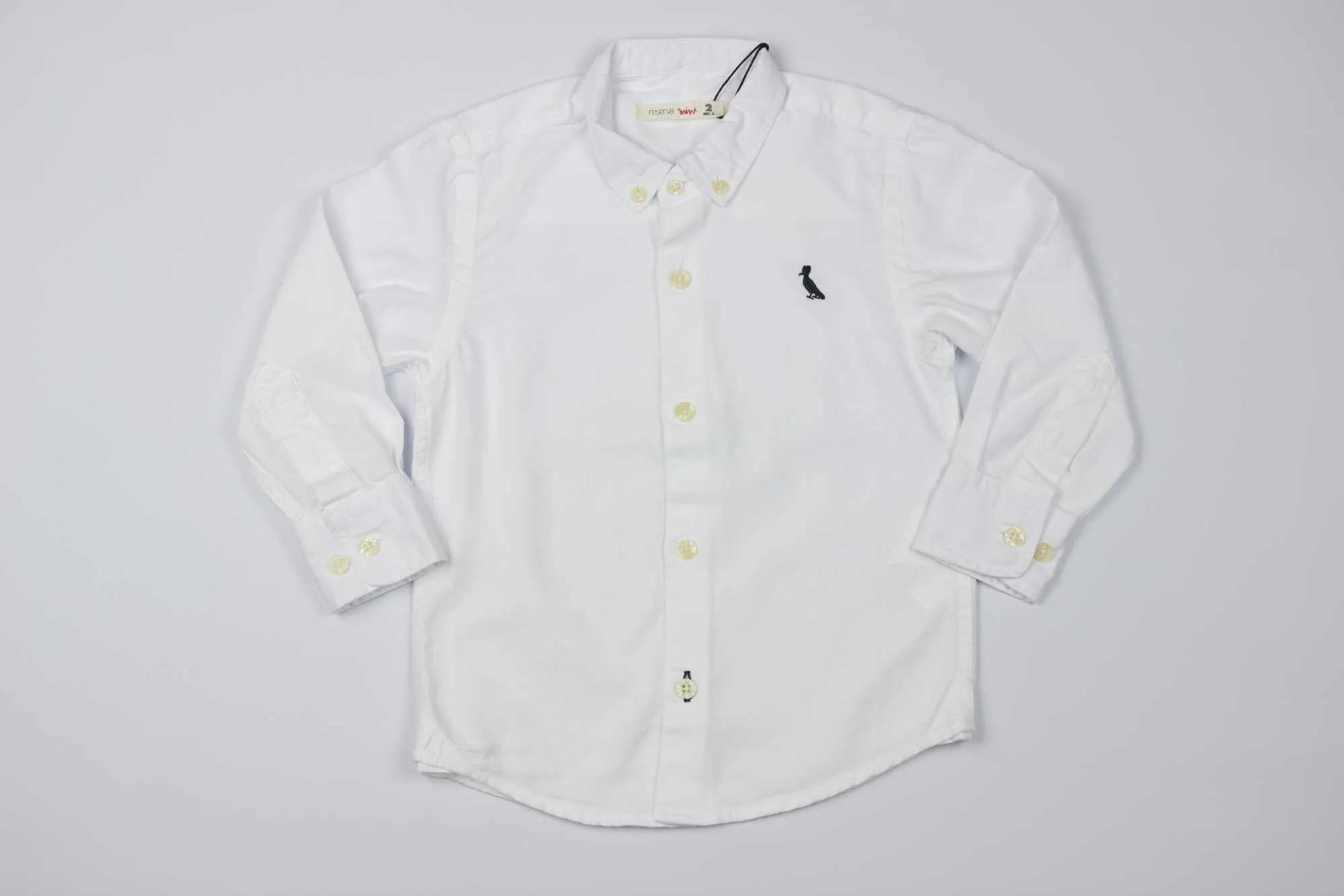 Camisa Branca Oxford Reserva Mini