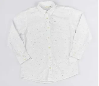 Camisa Branca Pois Reserva Mini