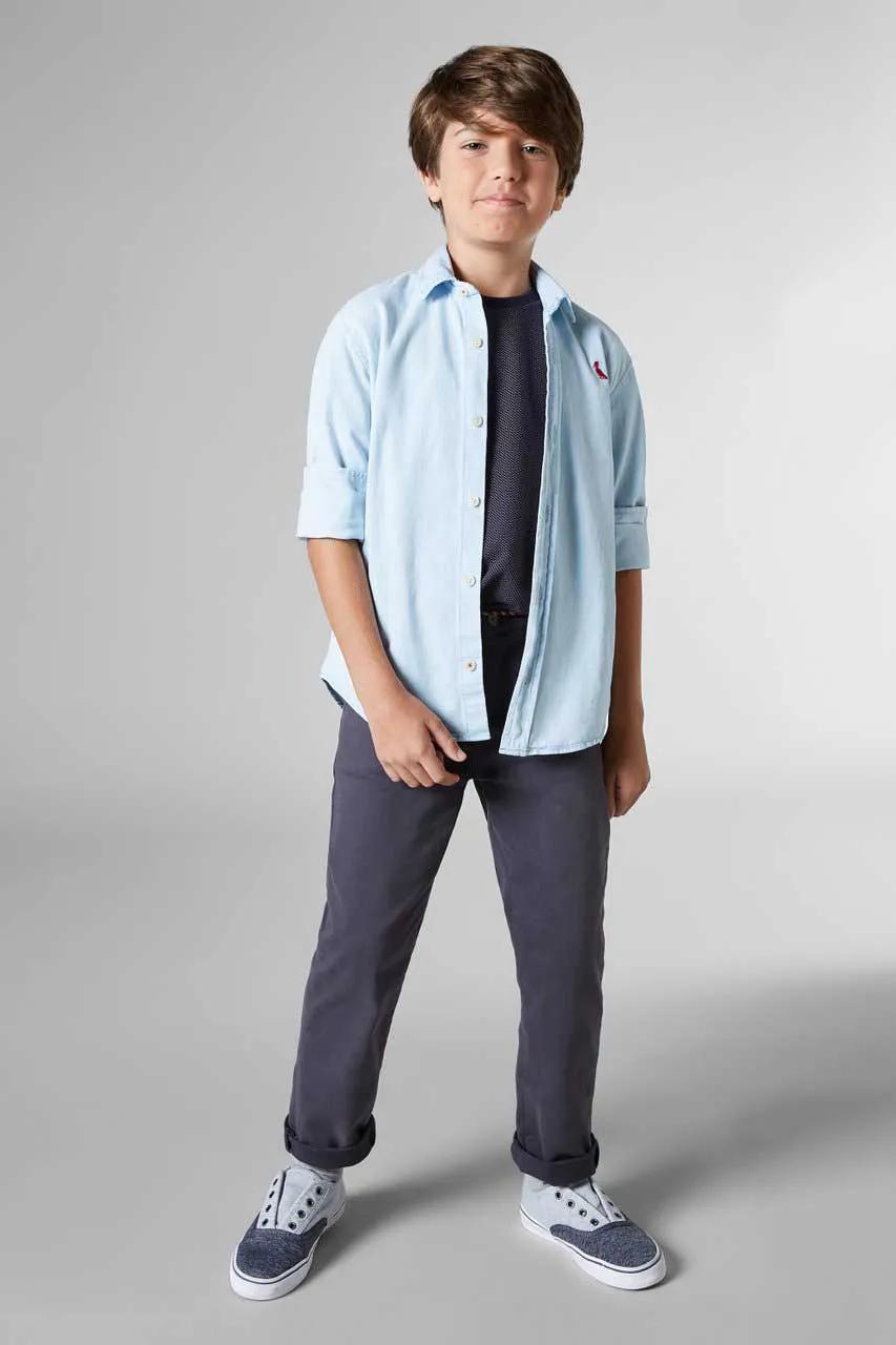Camisa Jeans ML Azul Claro Reserva Mini