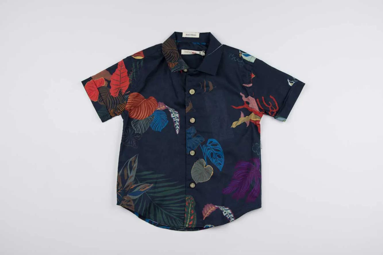 Camisa Manga Curta Paraíso Reserva Mini