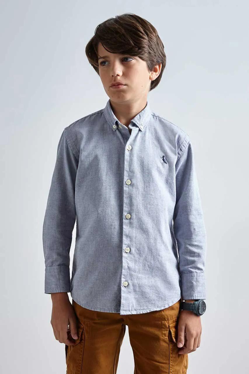 Camisa Oxford Azul Marinho Reserva Mini