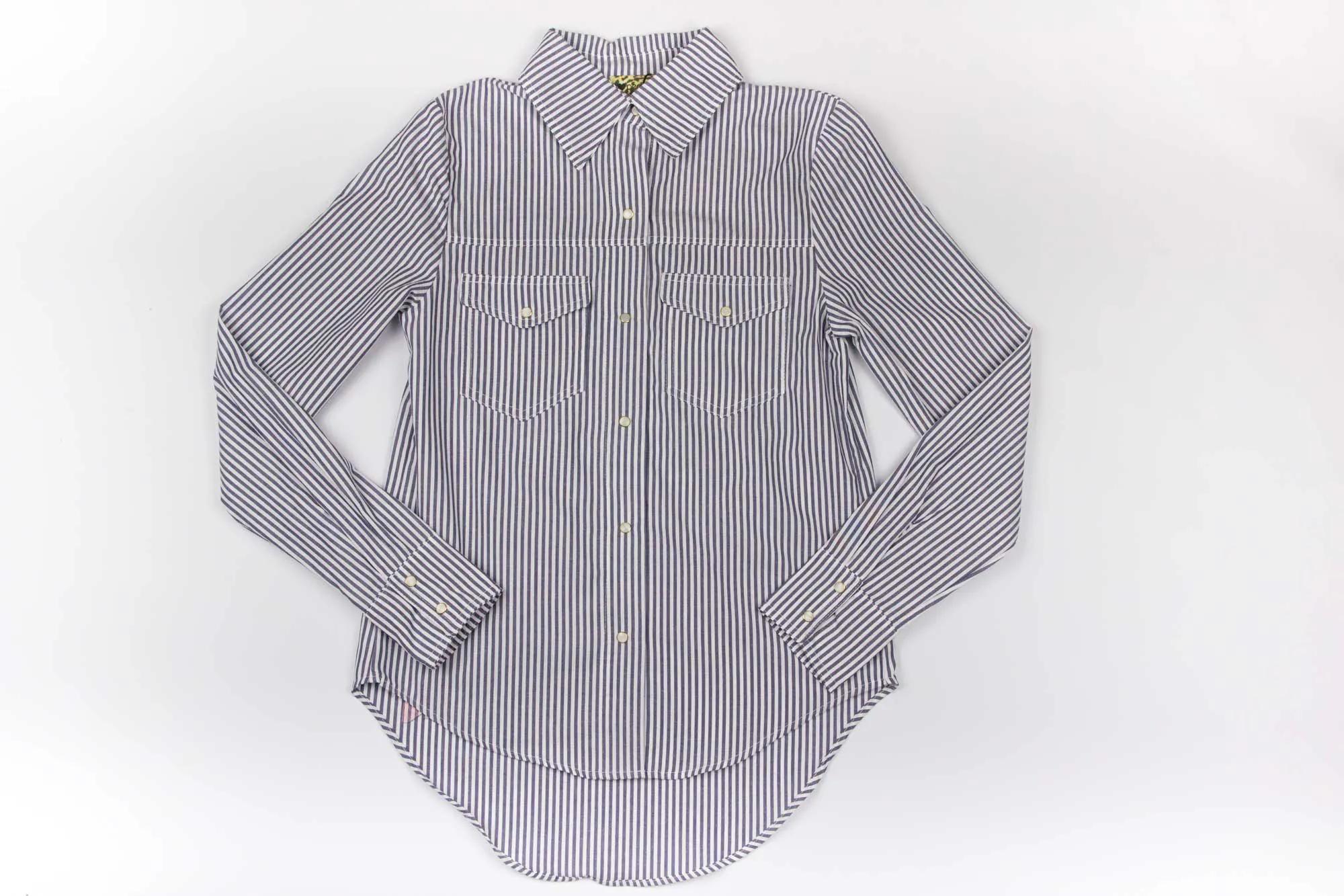 Camisa Tricoline Listrada Serigrafia Perfumaria