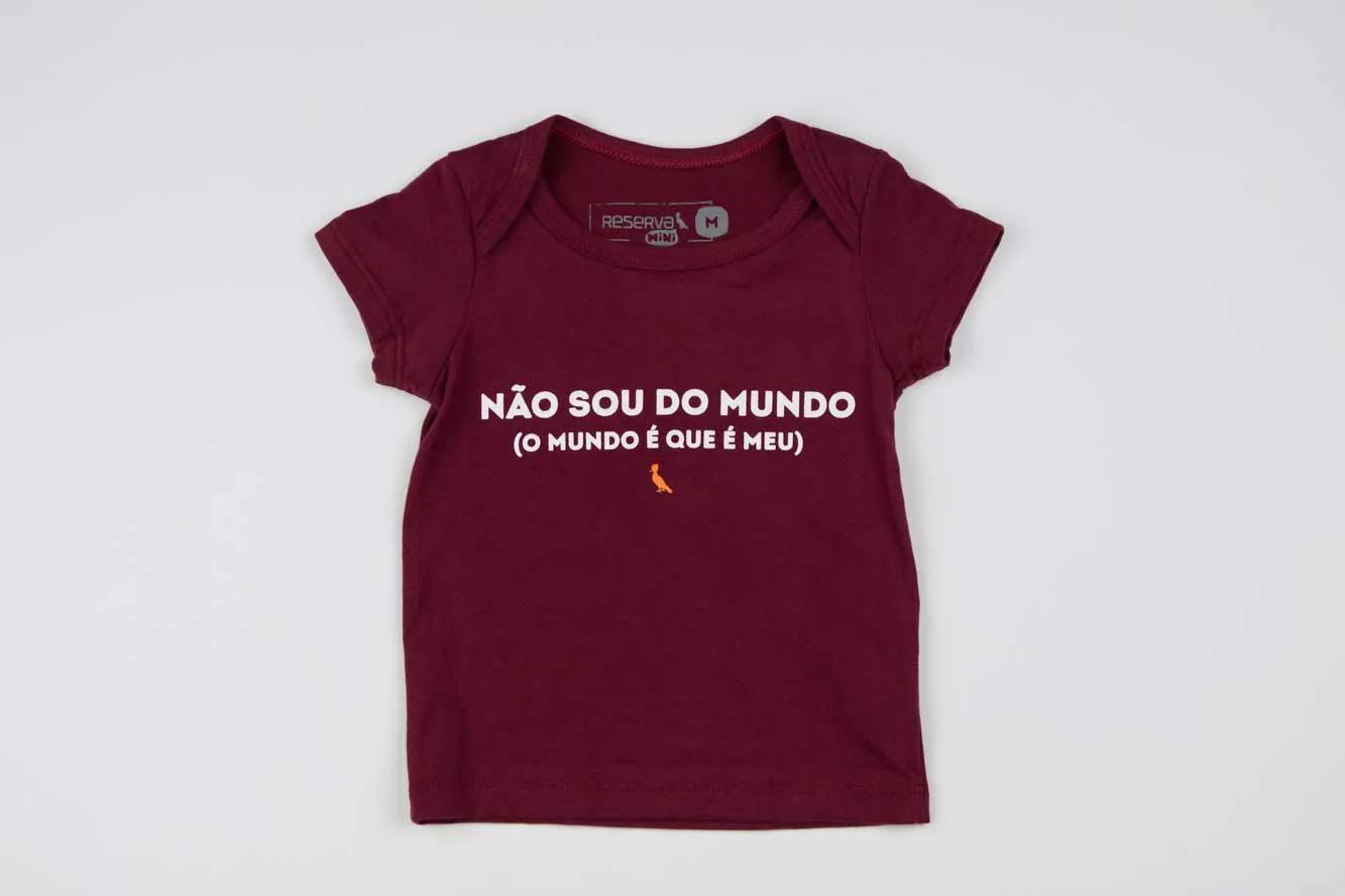 Camiseta BB Não Sou do Mundo Reserva Mini