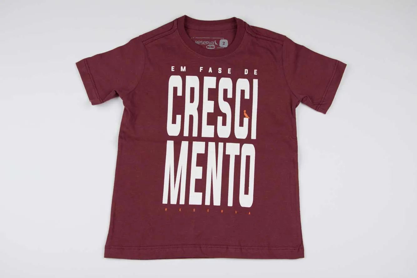 Camiseta Bordeaux Crescimento Reserva Mini