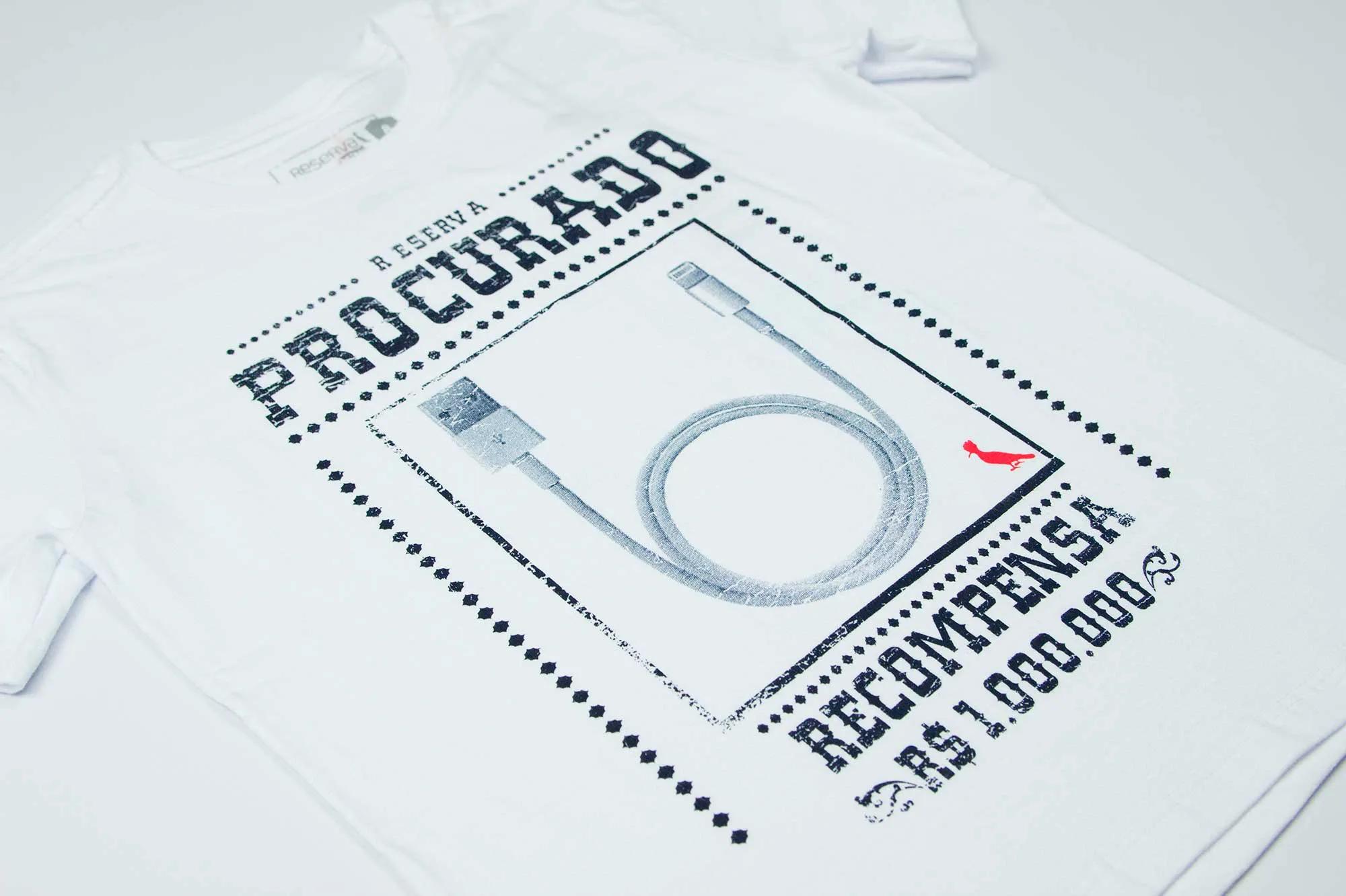 Camiseta Estampa Procurado Reserva Mini