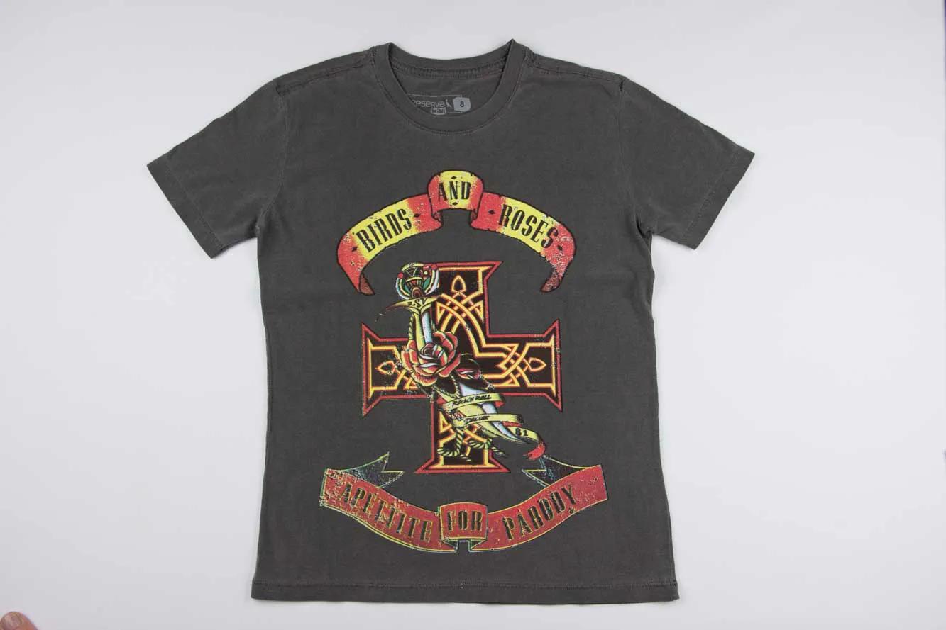 Camiseta Estampada Birds And Roses Reserva Mini