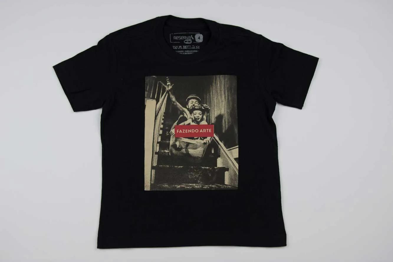 Camiseta Estampada Fazendo Arte Reserva Mini