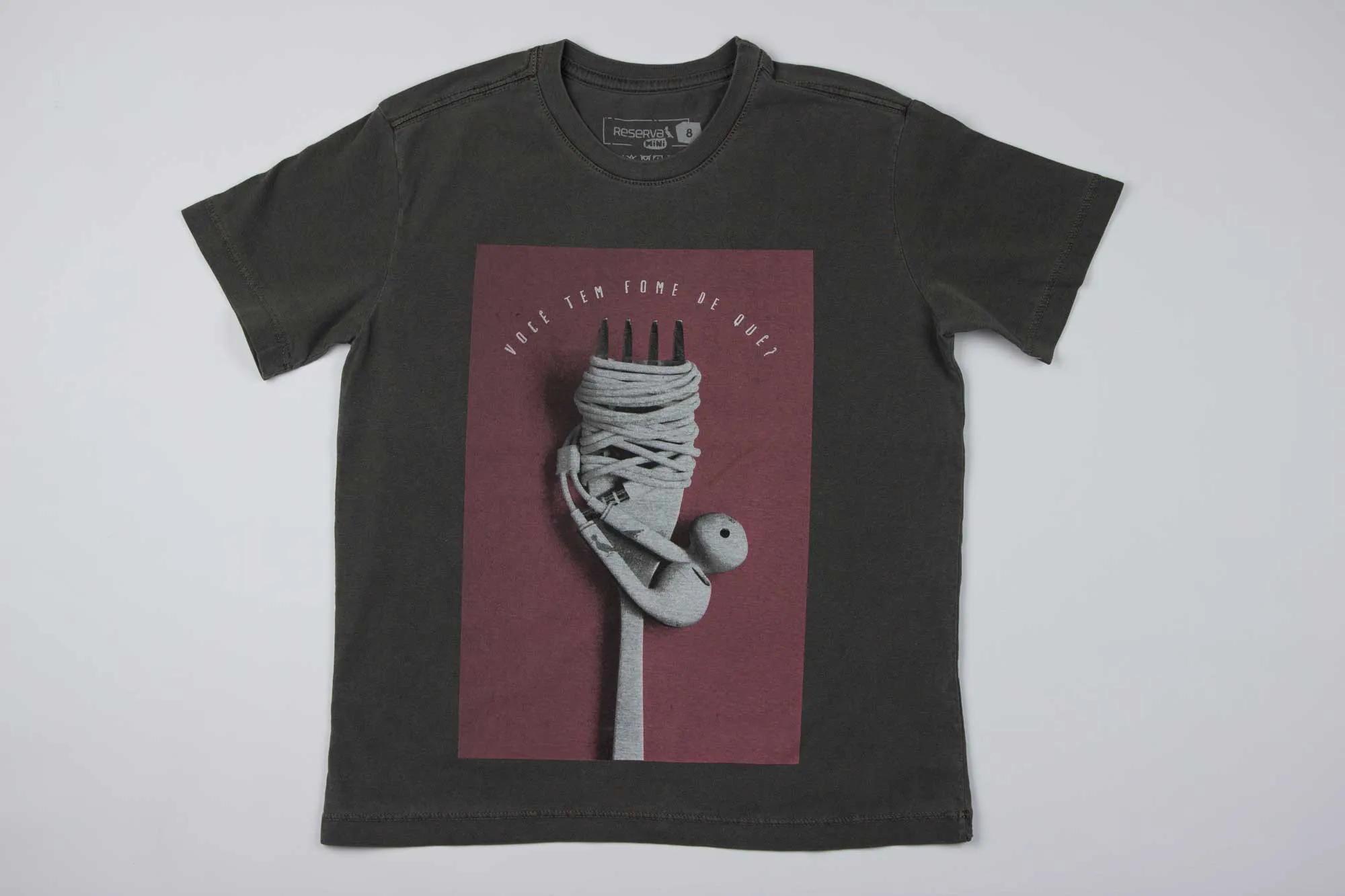 Camiseta Estampada Fome De Que Reserva Mini