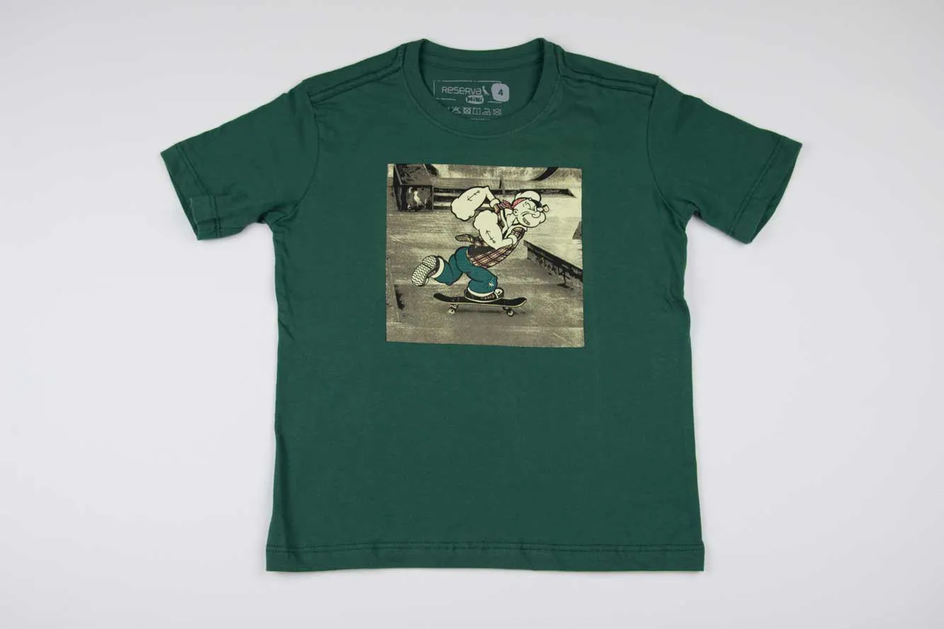 Camiseta Estampada Popeye Reserva Mini