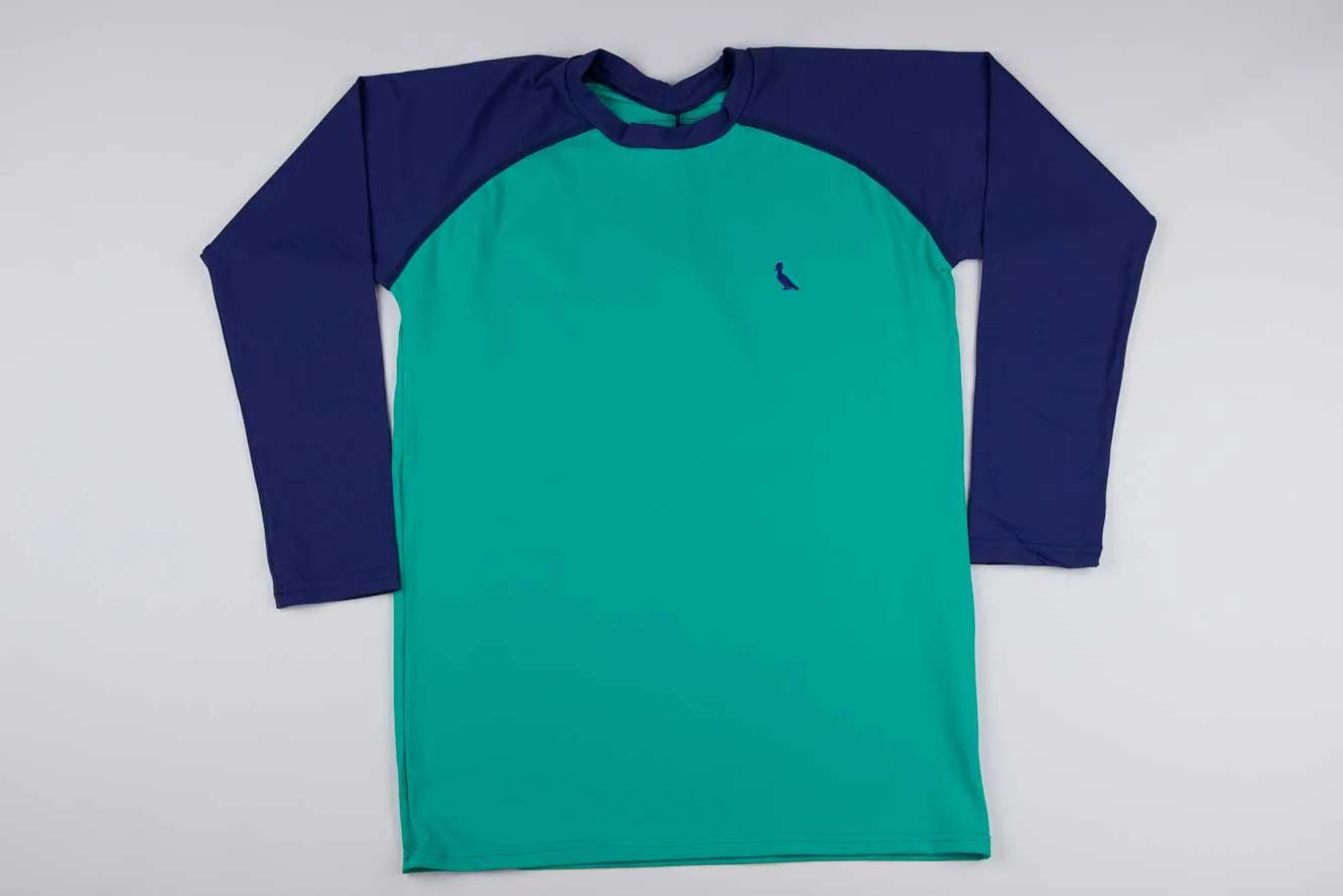 Camiseta Praia Raglan Verde Reserva Mini