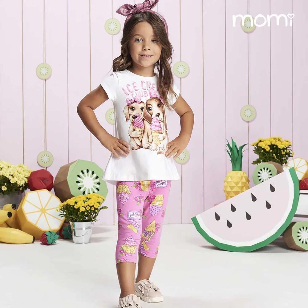 Conjunto Blusa e Legging Ice Cream - Momi
