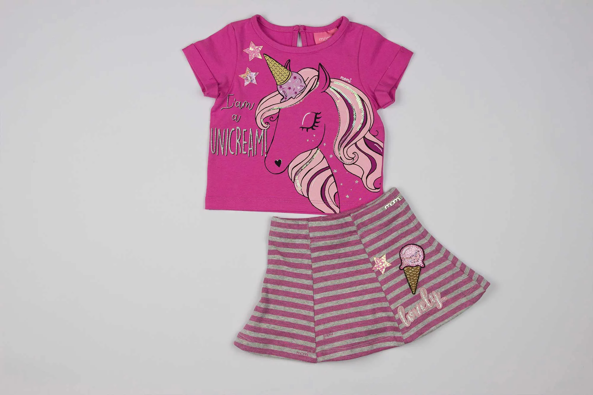 Conjunto Blusa e Saia Unicream - Momi