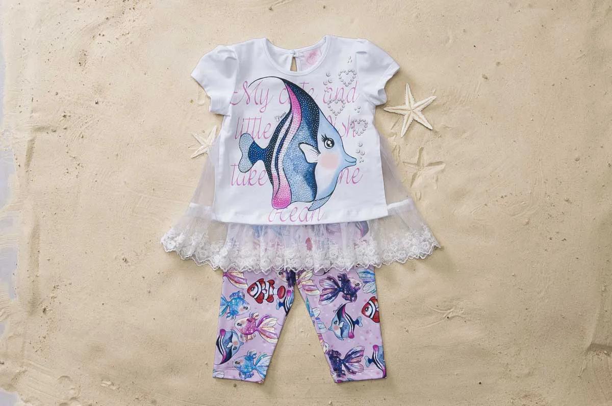Conjunto Blusa Peixes Legging Pituchinhus P mini