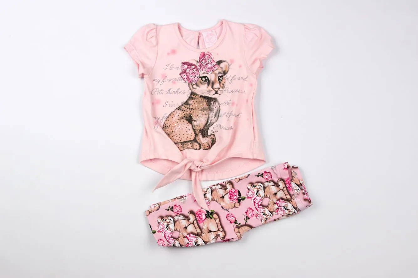 Conjunto Blusa Tigrinho Legging Pituchinhus P mini