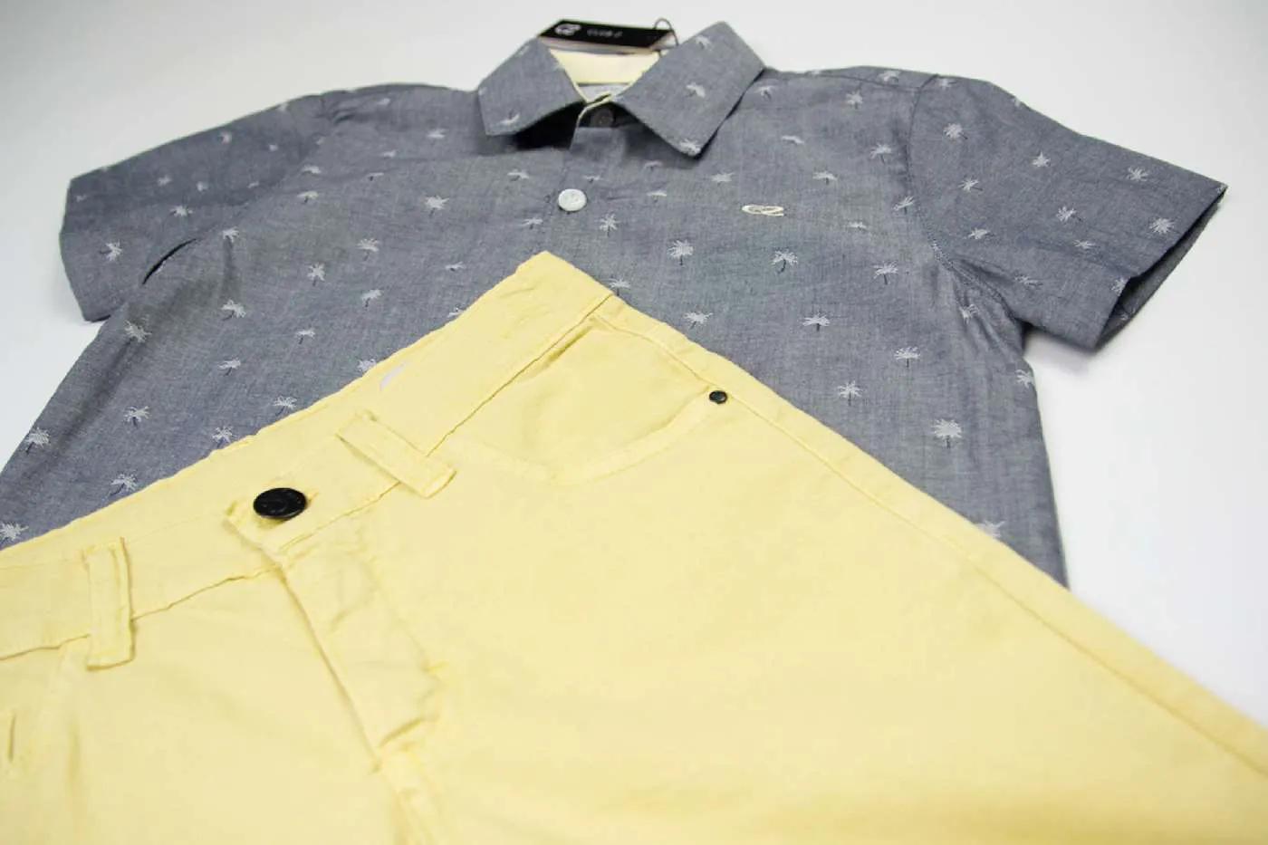 Conjunto Camisa C/Bermuda Coqueirinhos Clube Z
