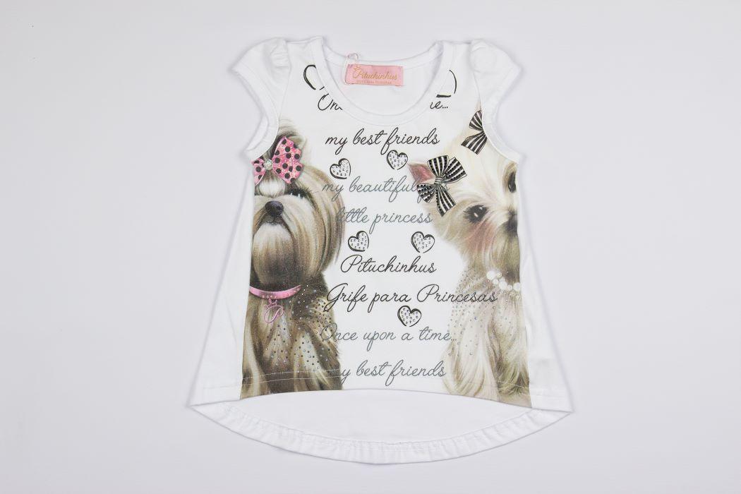 Maxi Blusa Cotton Cachorrinhos Pituchinhus Premium