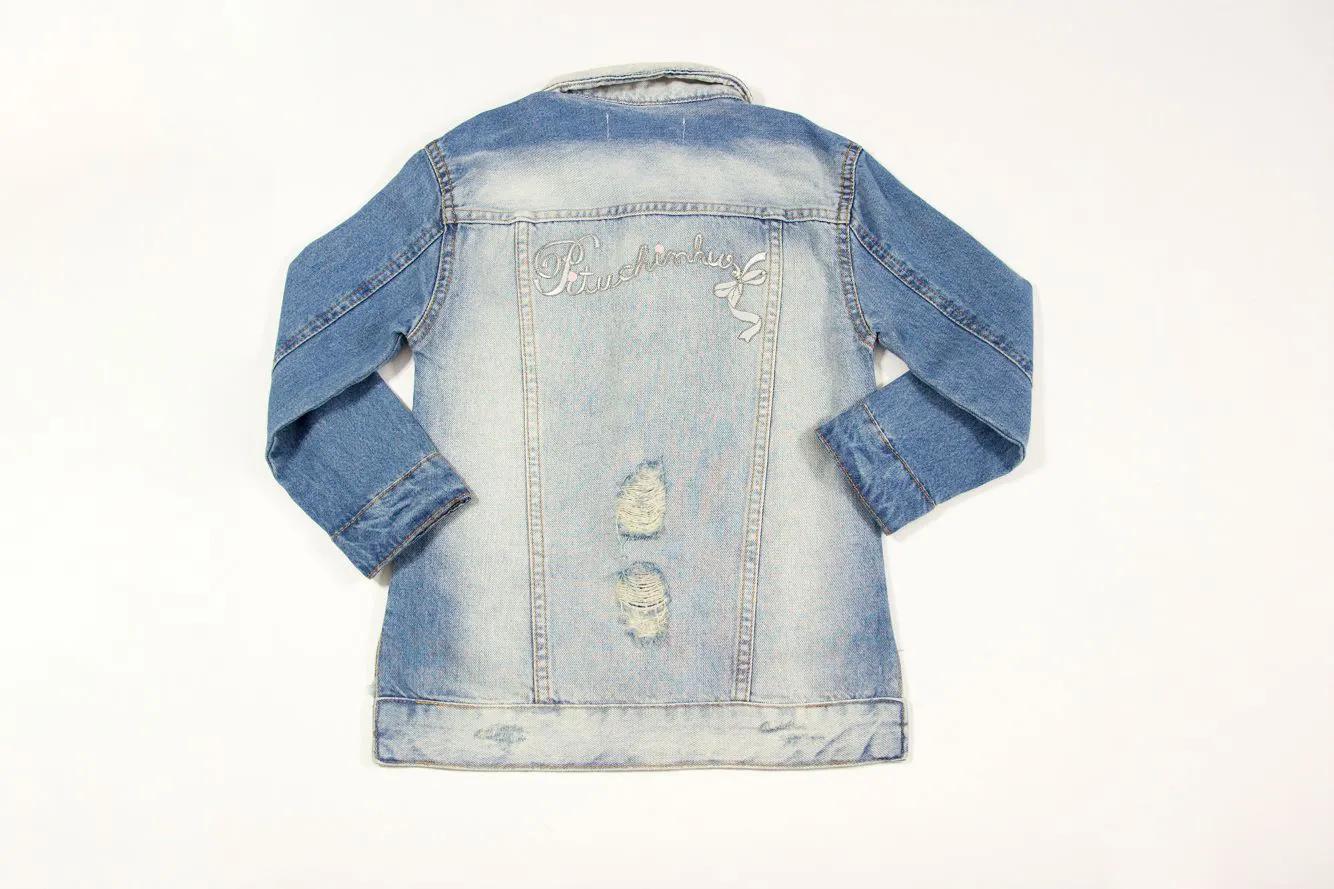 Maxi Jaqueta Jeans Patches Pituchinhus Premium