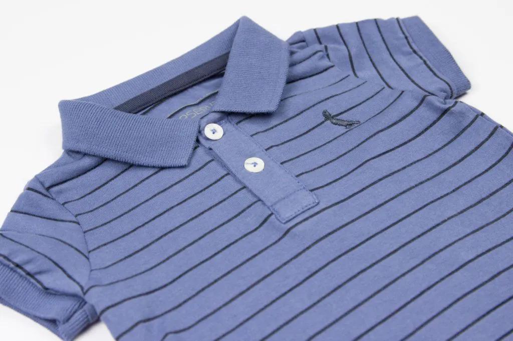Polo Bicolor Azul Reserva Mini