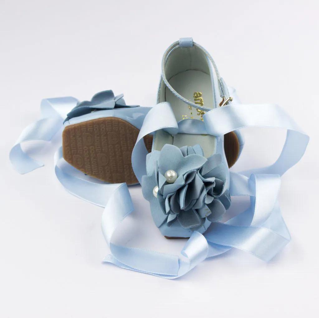 Sapato Infantil Azul Céu Bailarina Amoreco
