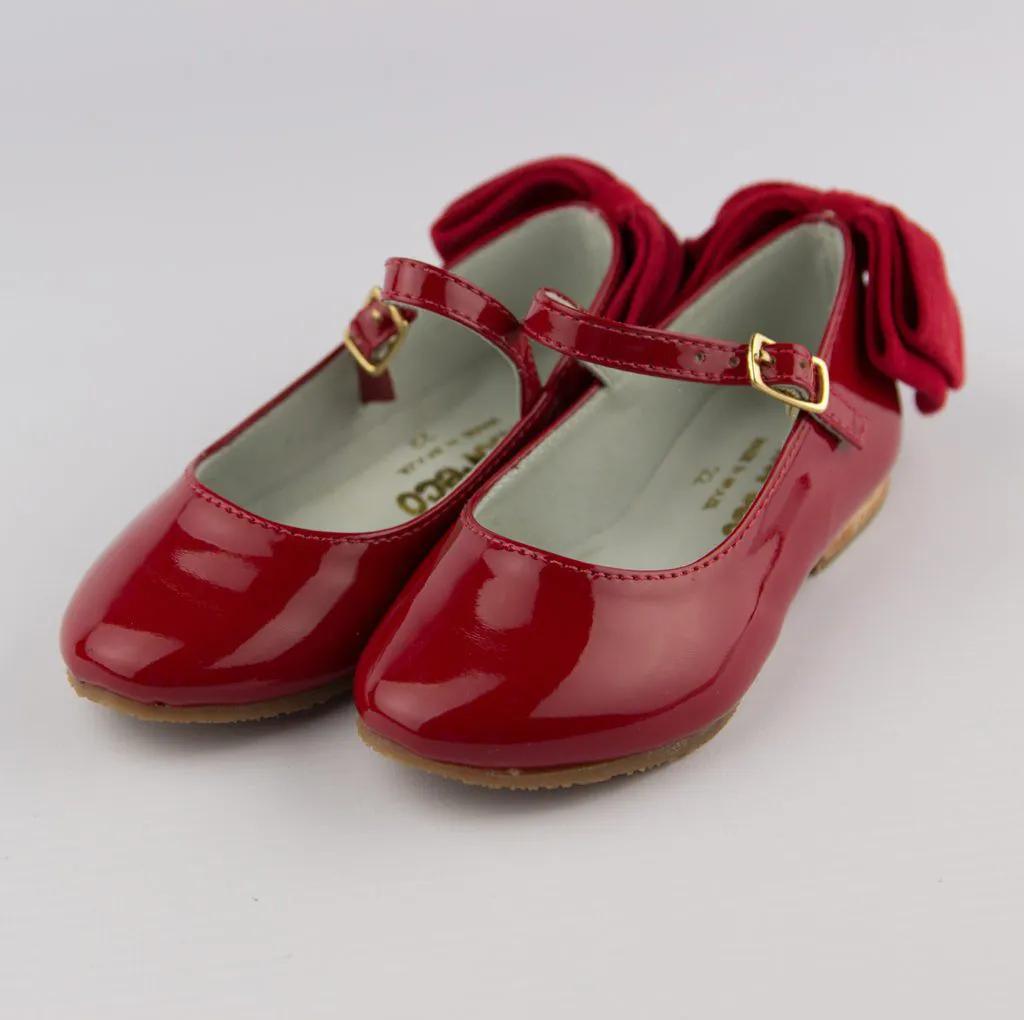 Sapato Infantil Laço Vermelho Amoreco