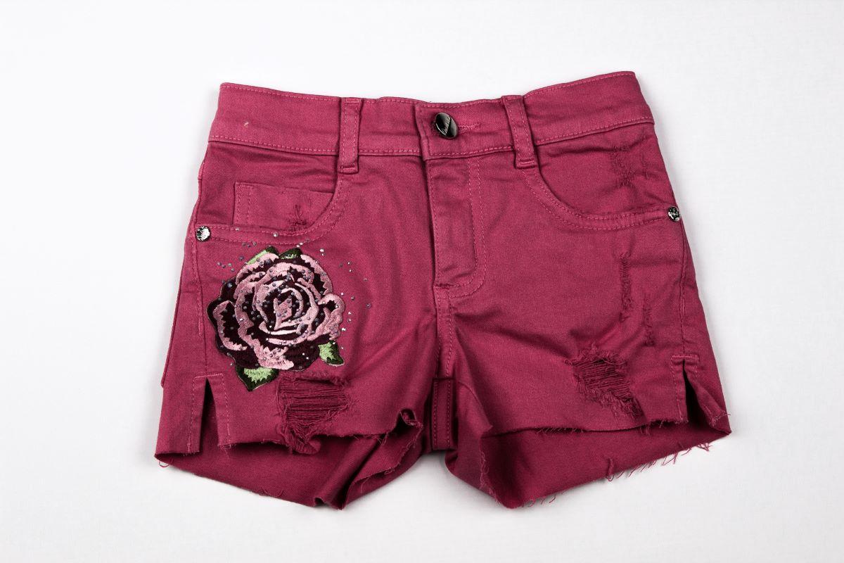 Short Pink Patche Flor Pituchinhus Premium