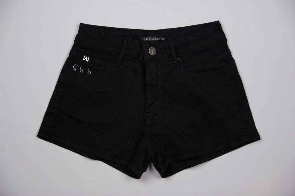 Shorts Black Com Argolas Authoria