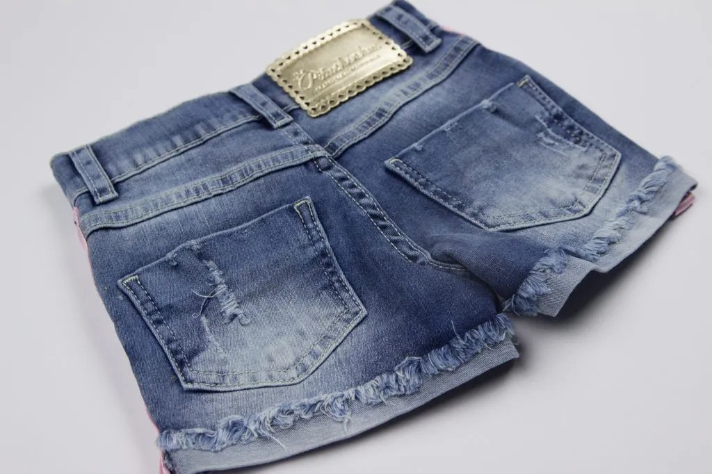 Shorts Jeans Claro Fita Pituchinhus Premium