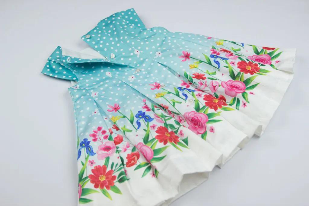 Vestido Barrado Flores Matinée