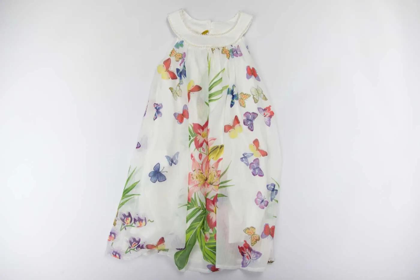 Vestido Borboletas e Flores Matinée