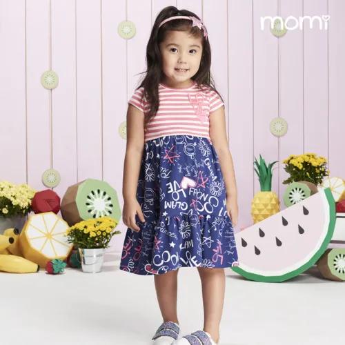 Vestido Listra e Escrita - Momi