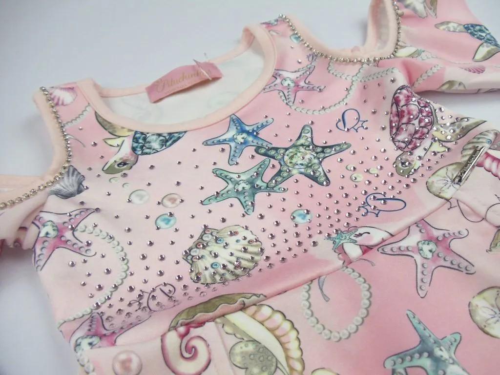 Vestido Neoprene Fundo do Mar Pituchinhus Premium