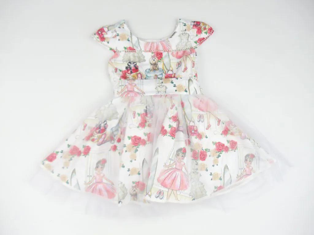 Vestido Tricoline Cenário Closet Pituchinhus Premium