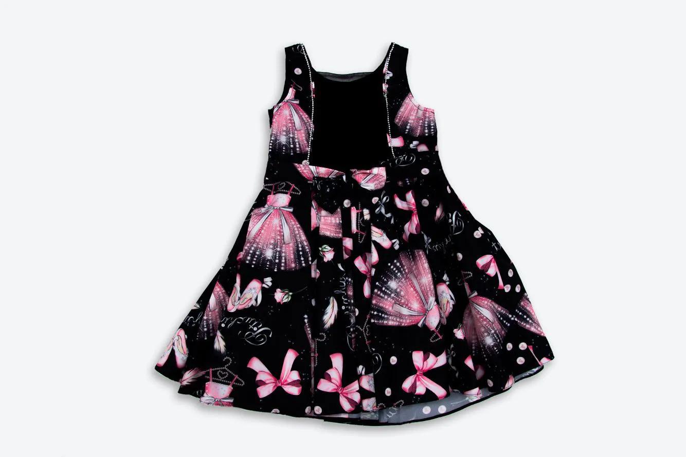 Vestido Tricoline Elementos Ballet Pituchinhus Premium
