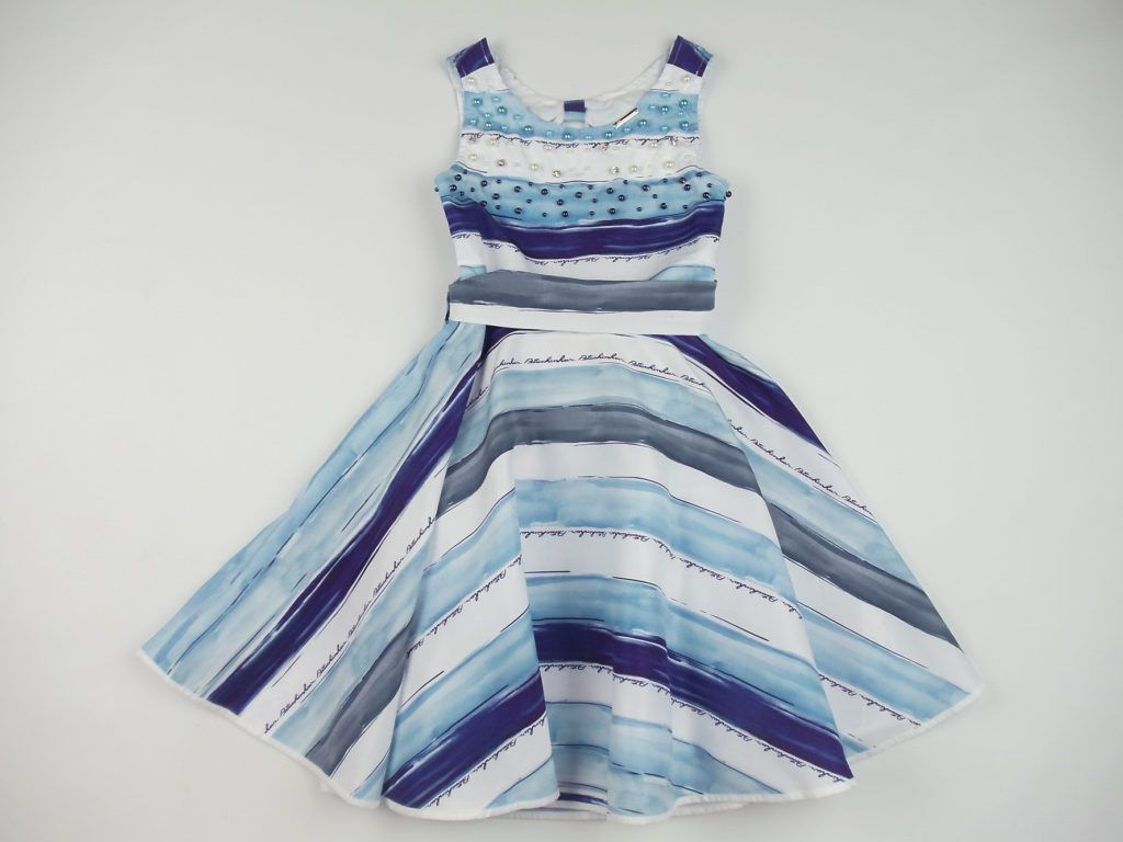 Vestido Tricoline Gode Listras Pituchinhus Premium