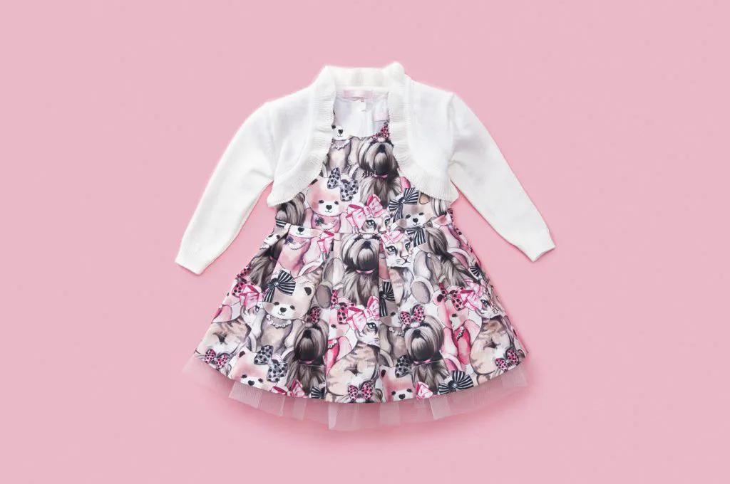 Vestido Tricoline Multi Bichinhos Pituchinhus P mini