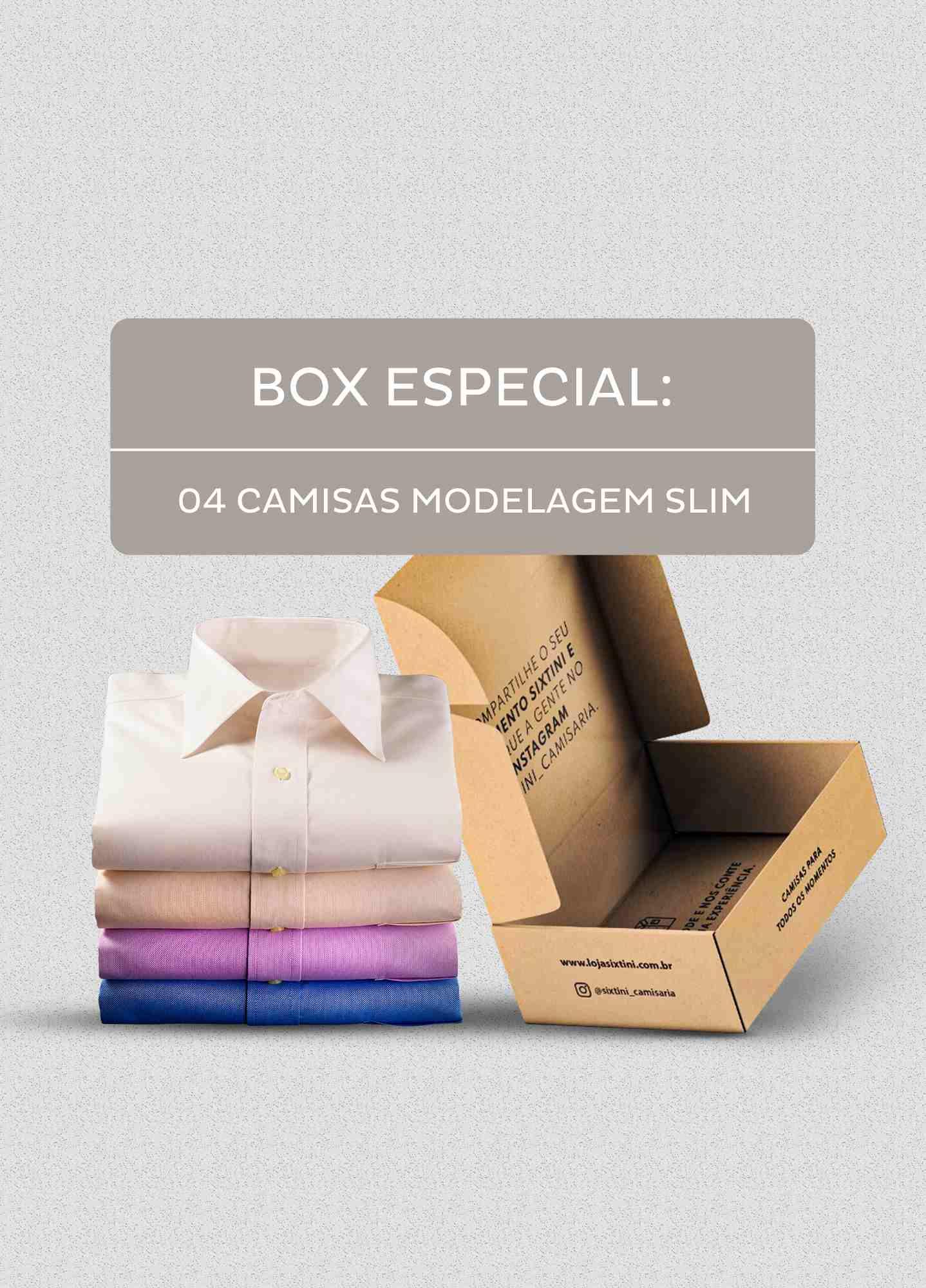 Box Especial - 04 Camisas Slim