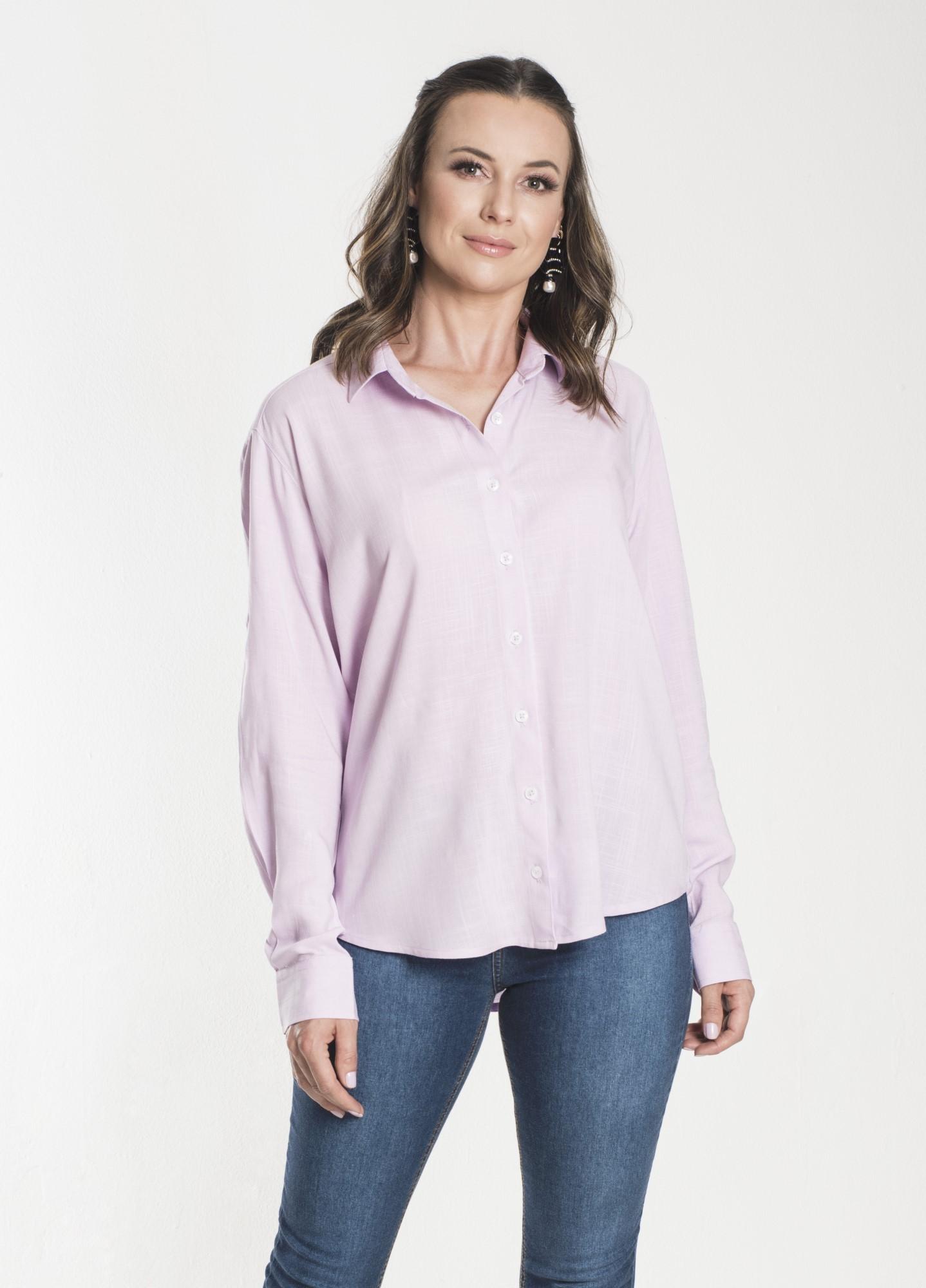 Camisa Feminina Linho Rosa