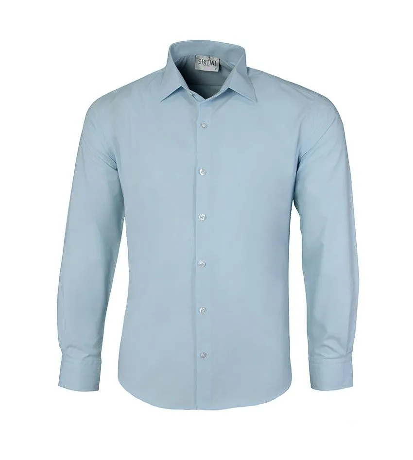 Camisa Slim Azul Claro
