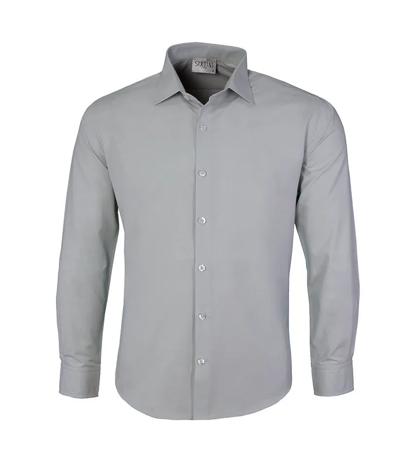 Camisa Slim Cinza