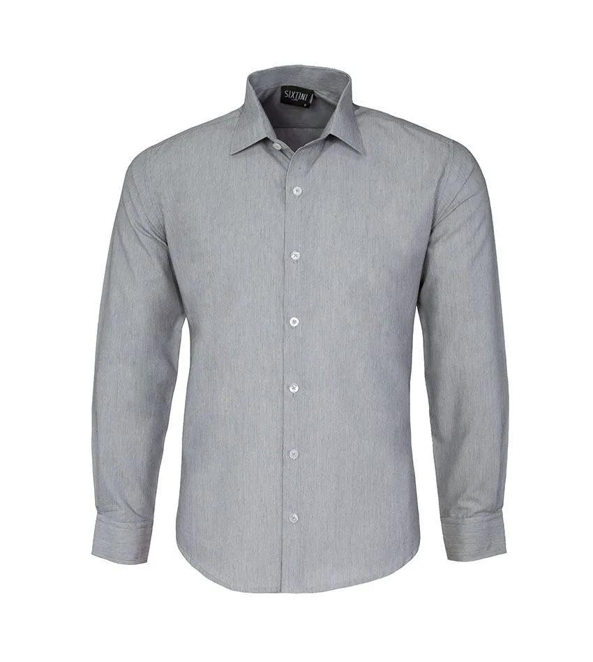Camisa Slim Listras Finas Preto