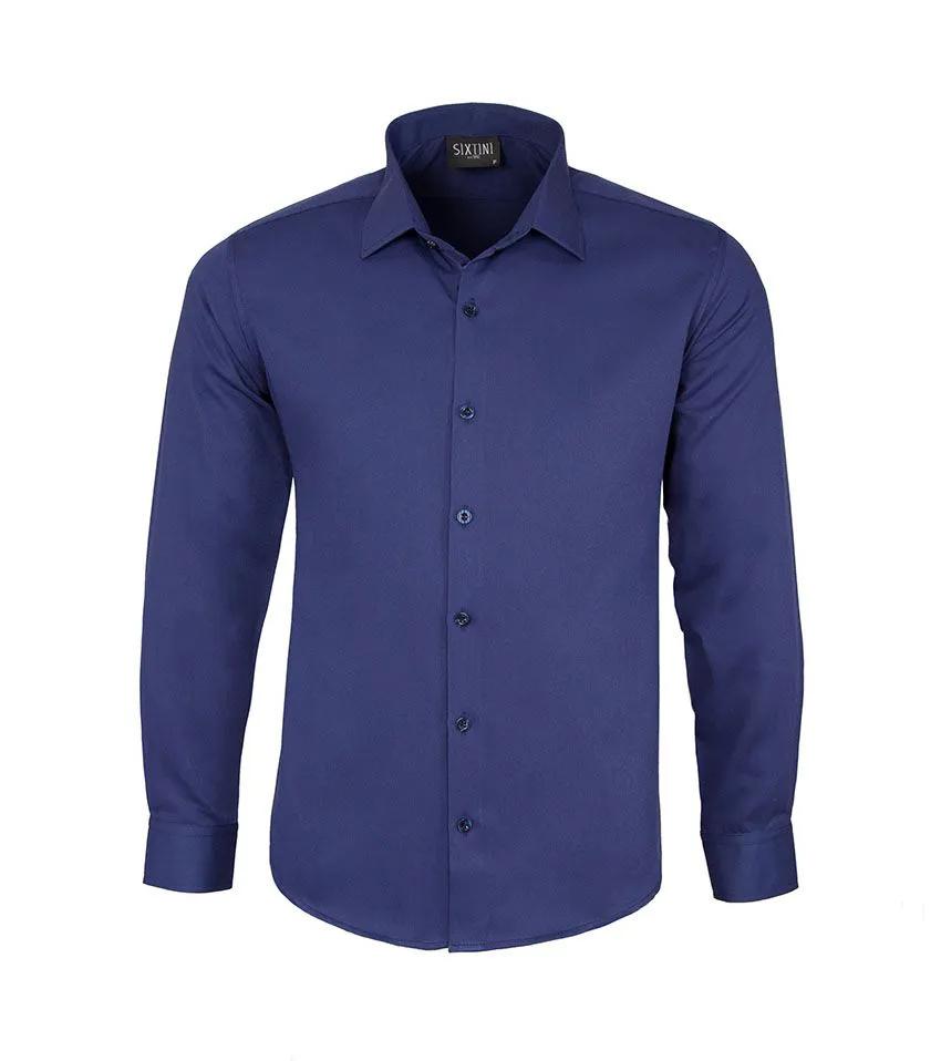 Camisa Slim Maquinetada Indigo