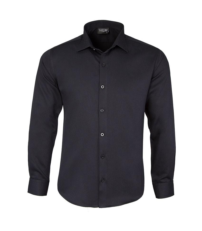 Camisa Slim Maquinetada Preto