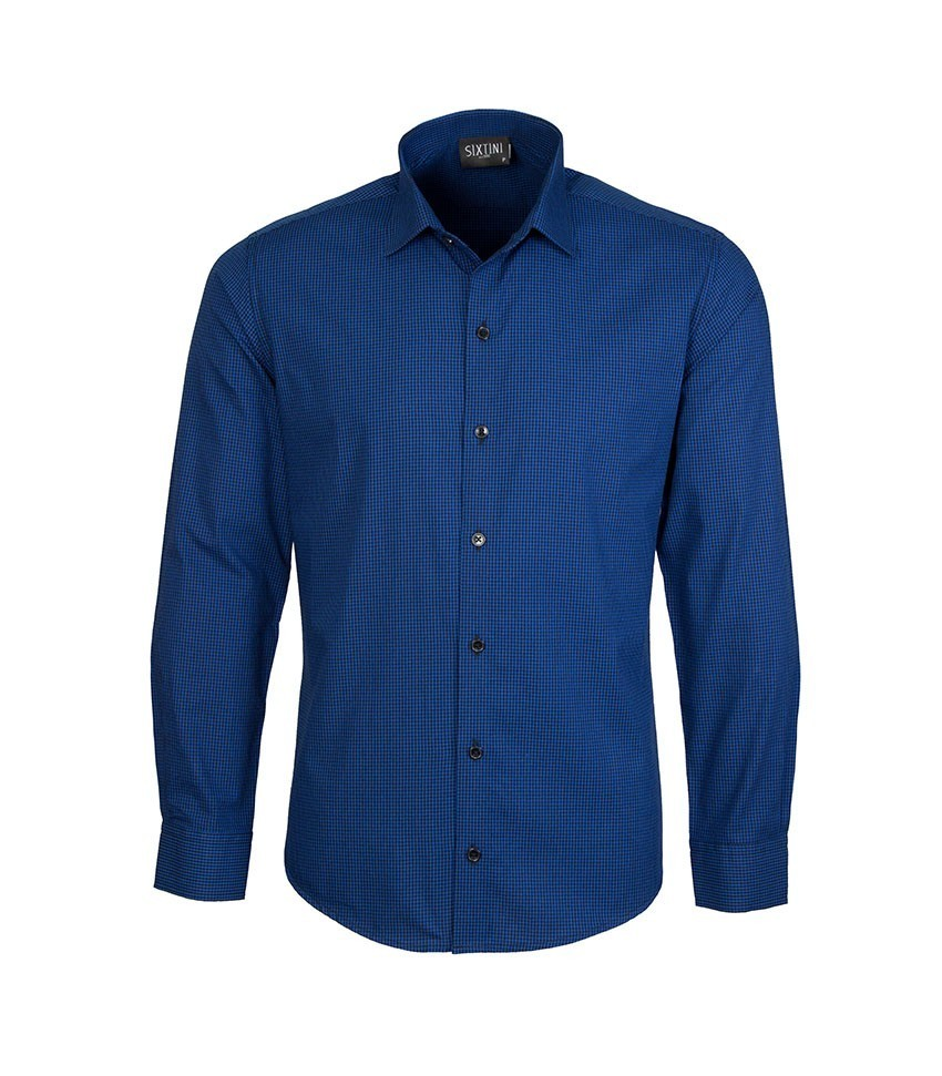 Camisa Slim Xadrez Azul