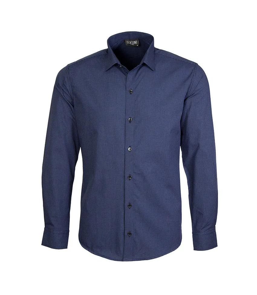 Camisa Slim Xadrez Marinho