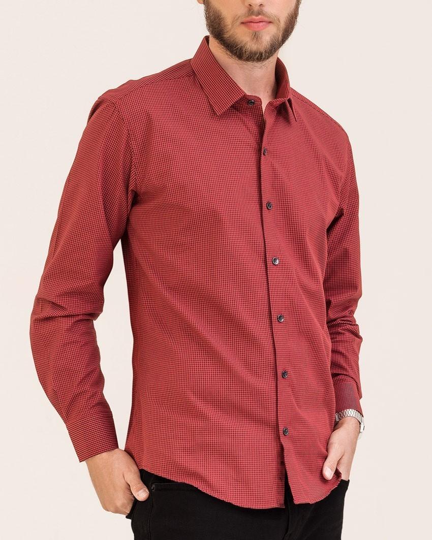 Camisa Slim Xadrez Vermelho