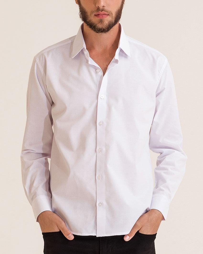 Camisa Social Slim Passa Fácil Branca