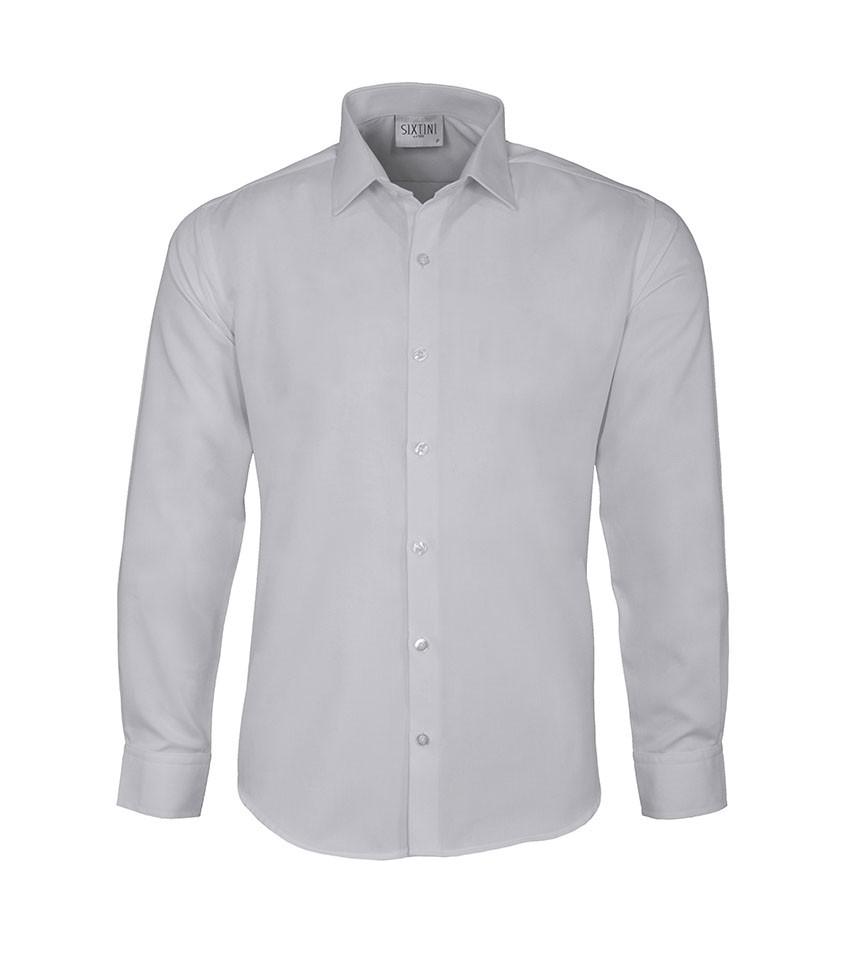Camisa Social Slim Passa Fácil Maquinetada Branca