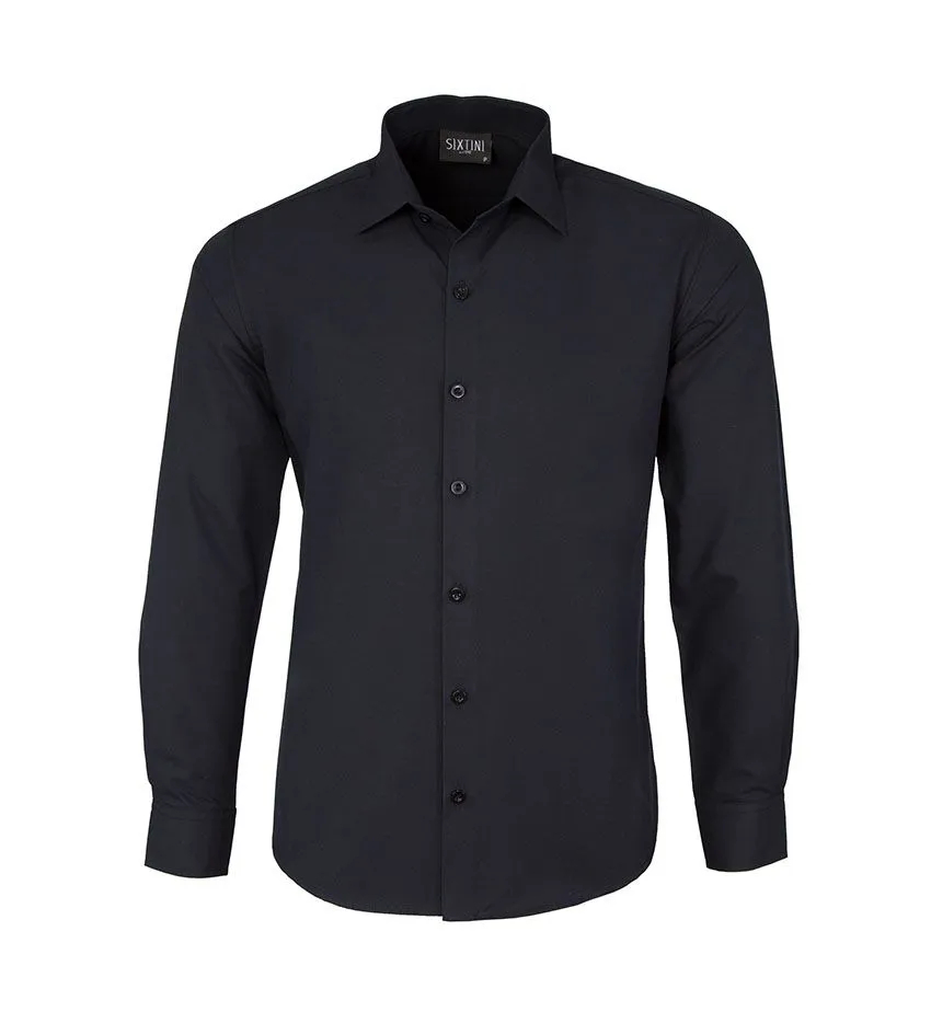 Camisa Social Slim Passa Fácil Preta