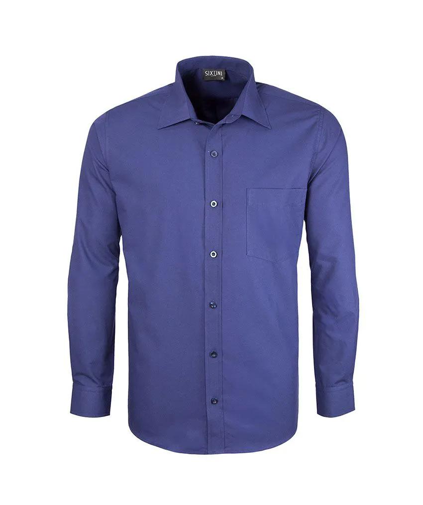 Camisa Social Tradicional Passa Fácil Indigo